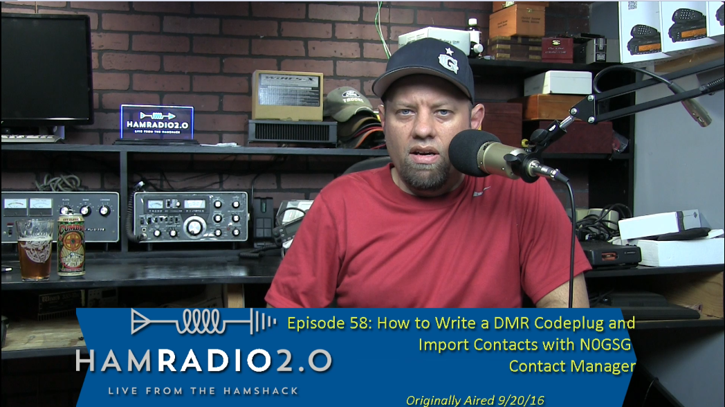 Episode 58: Writing a DMR Codeplug and N0GSG Contact Manager