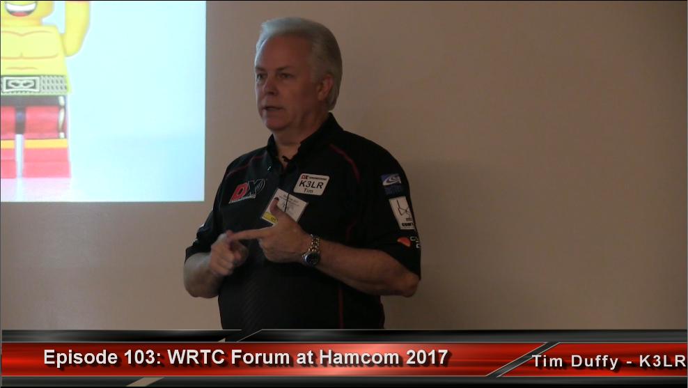 Episode 103: WRTC Forum at Hamcom, Presented by Tim Duffy, K3LR