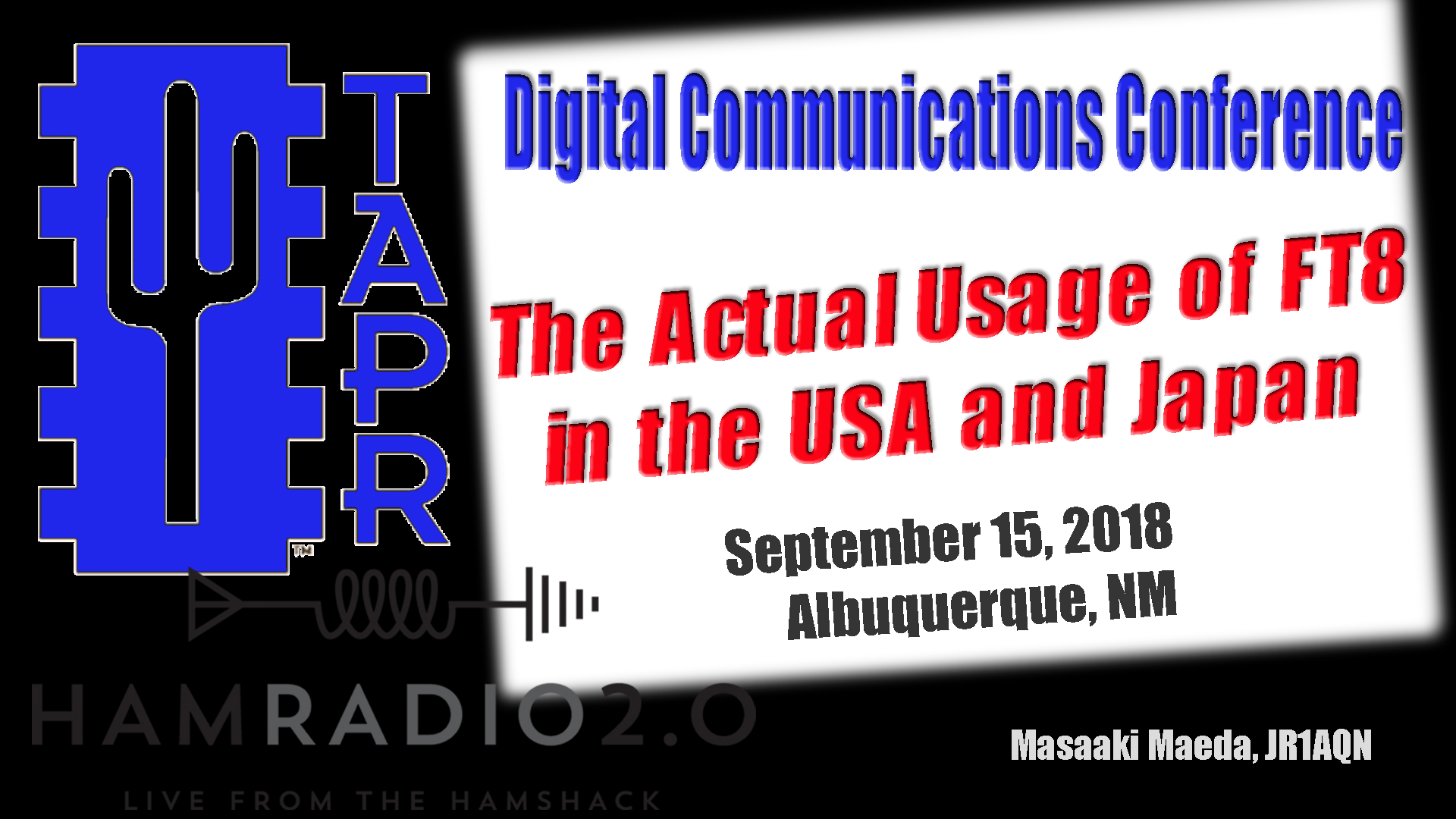 Episode 186: FT8 Actual Usage in the USA and Japan from TAPR