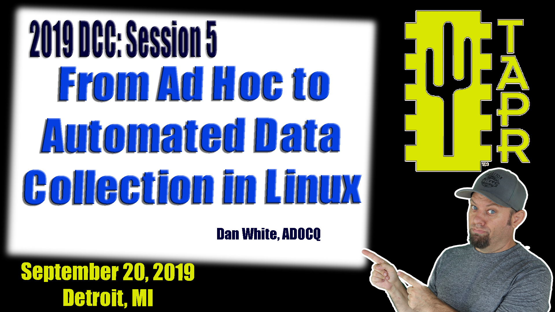 Episode 275: From Ad Hoc to Automated Data Collection in Linux   TAPR DCC