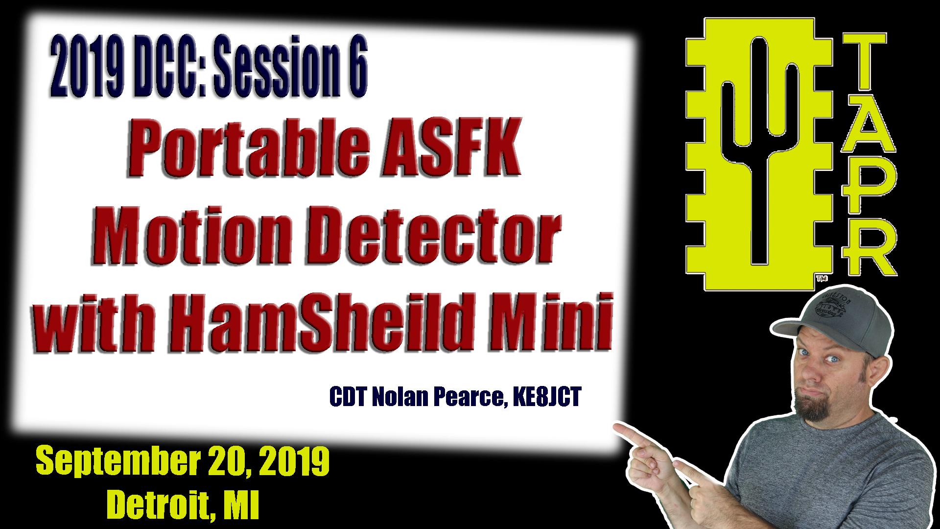 Episode 276: Portable AFSK Motion Detector with Hamsheild Mini   TAPR