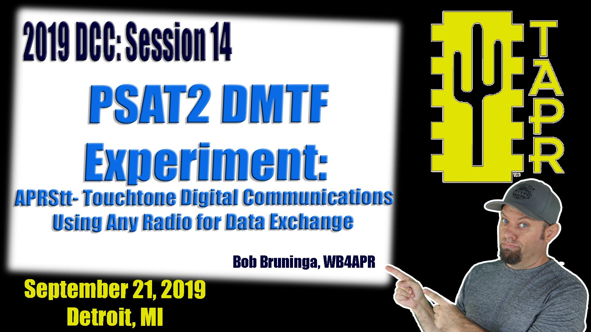 Episode 299: PSAT2 DTMF Experiment APRStt Touchtone Digital Communications