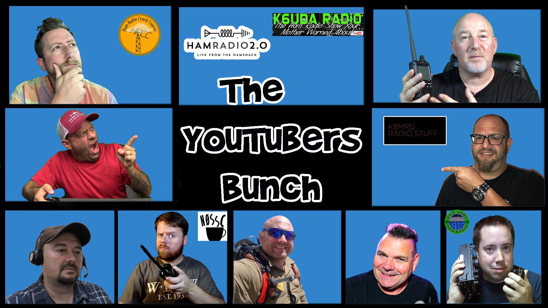 Episode 304: Lessons Learned with Ham Radio and YouTube | YouTubers Bunch #8