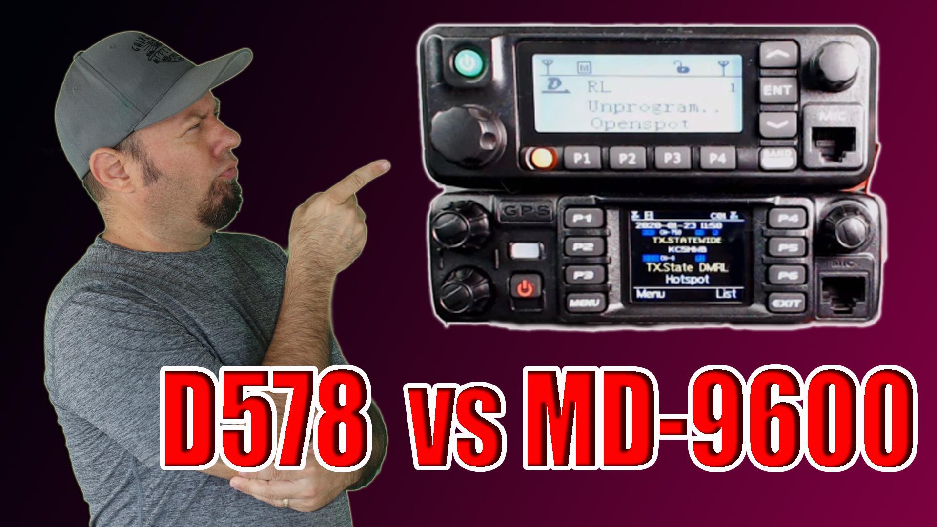 Episode 320: Anytone AT-D578 vs TYT MD-9600   DMR Mobile Radio Comparison