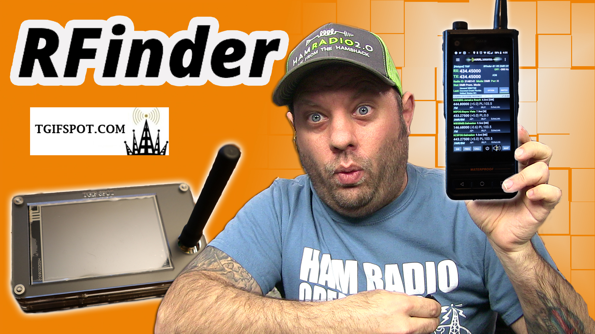 Episode 388: RFinder B1 Android Radio with a TGIF Hotspot – DMR Operating!