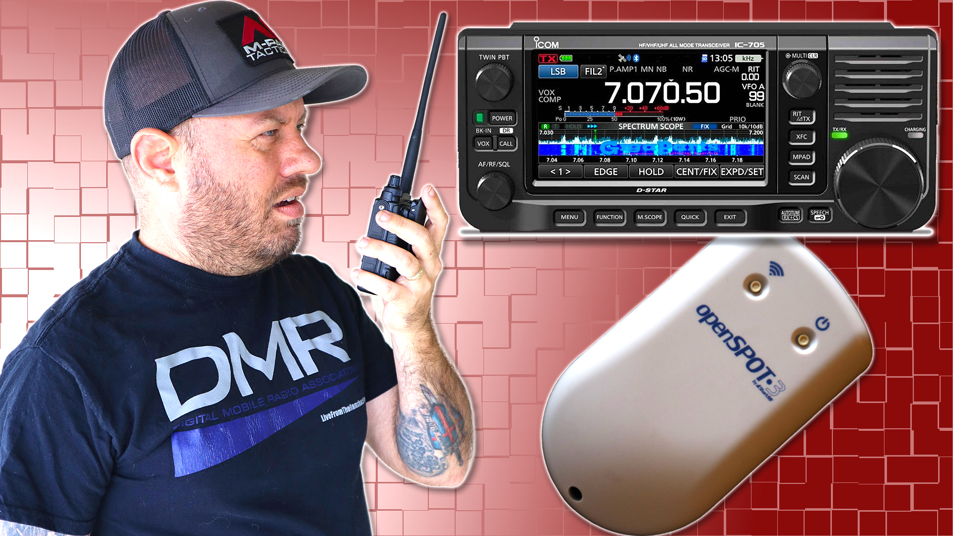 Episode 474: Icom IC-705 DSTAR to DMR with the Openspot3 Cross Mode