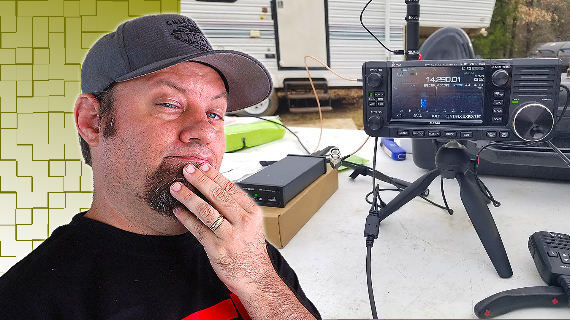 Episode 534: Icom IC-705 with the Comet HFJ 350M HF Antenna | IC-705 Accessories