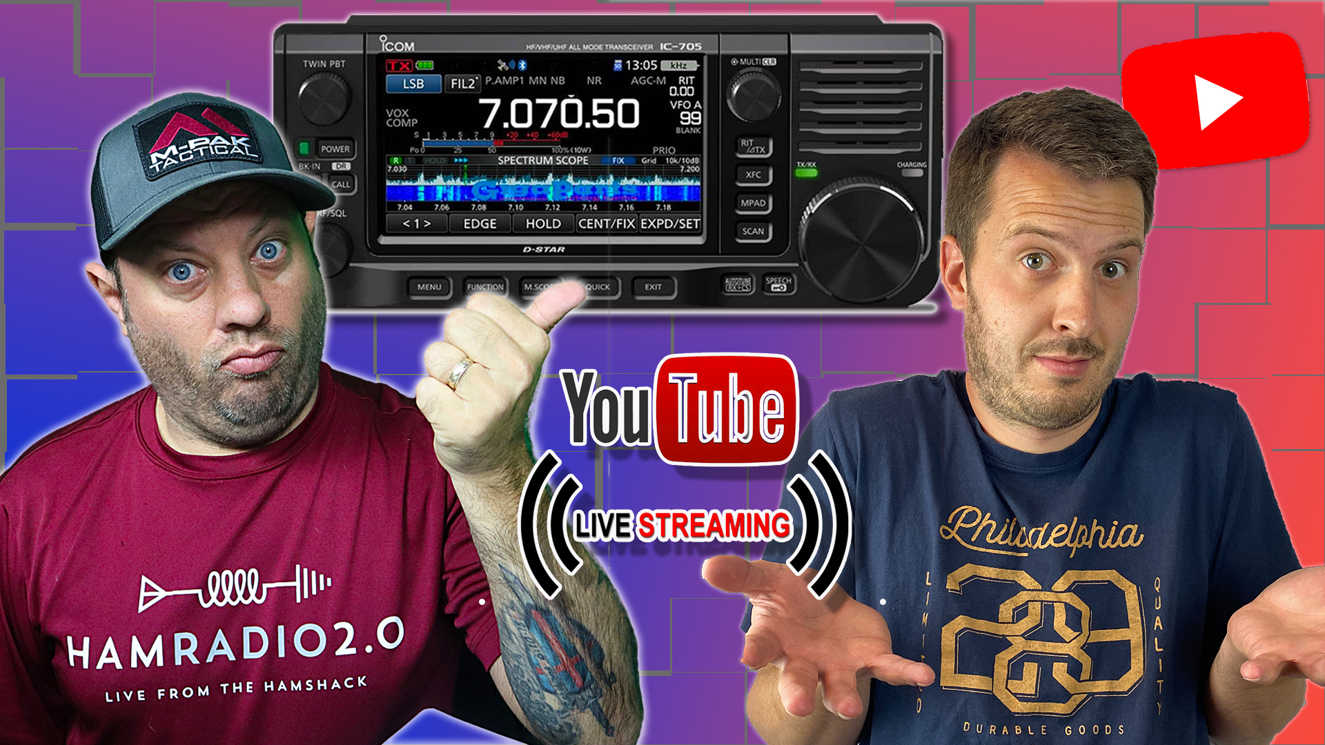 Episode 554: Using the Icom IC-705 and WSJT-x with Hayden from Ham Radio DX!